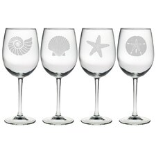 Seashore Wine Glass (Set of 4)