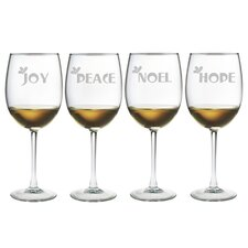 Joy Peace Noel Hope Wine Glass (Set of 4)