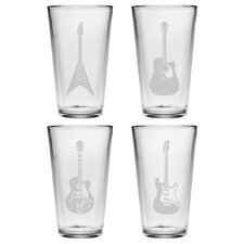 Guitar Pint Glass (Set of 4)