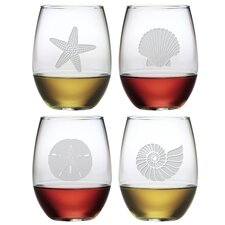 Seashore Stemless Wine Glass (Set of 4)