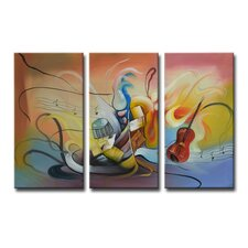 Radiance Neva 3 Piece Original Painting on Canvas Set