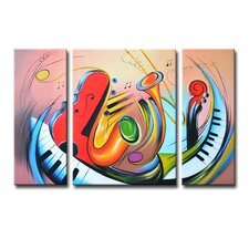 Radiance Tasia 3 Piece Original Painting on Canvas Set