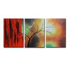 Radiance Carlina 3 Piece Original Painting on Canvas Set