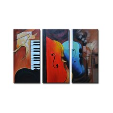 Radiance Oneida 3 Piece Original Painting on Canvas Set