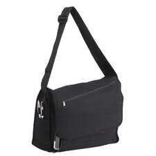 "15.5"" Canvas Messenger Bag with 1 Zippered Pocket"