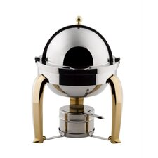 Odin Mini Chafer with Brass Plated Legs and Porcelain Insert