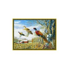 Wildlife Pheasants Novelty Outdoor Area Rug