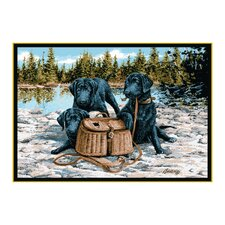 Wildlife Gone Fishing Novelty Outdoor Area Rug