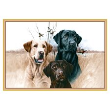 Wildlife Great Hunting Dogs Novelty Outdoor Area Rug