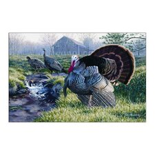 Wildlife Turkey Novelty Outdoor Area Rug