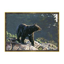 Wildlife Blue Bear Novelty Oudoor Area Rug