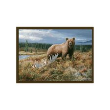 Wildlife Grizzly Novelty Outdoor Area Rug