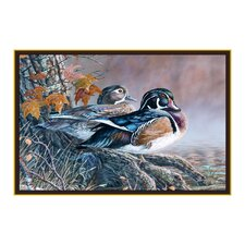 Wildlife Wood Ducks Novelty Outdoor Area Rug