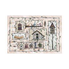 Home Accents Bird Houses Beige Area Rug