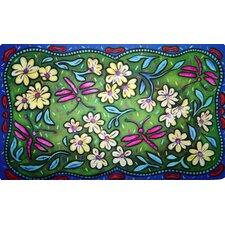 Flowers and Dragonflies Doormat