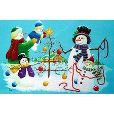 Holiday Snowmen Doormat
