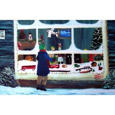 Holiday Window Shopping Doormat