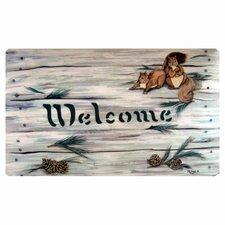 Squirrels and Pine Cones Doormat