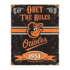 MLB Vintage Metal Sign Wall Art