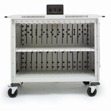 30-Compartment Laptop Storage Cart