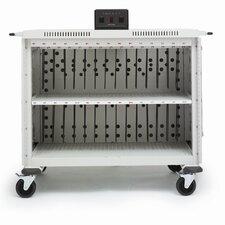 30-Compartment Laptop Storage Cart