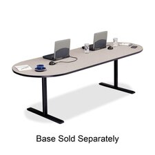 """Racetrack Conference Table,42""""x96""""x29"""",Gray Nebula"""