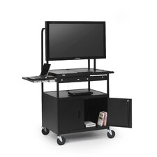 Cab AV Cart with Laptop Shelf for Flat Panels
