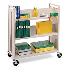 Metal Double-Side Book Cart