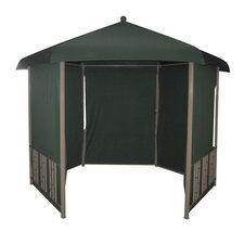 Hexagonal 11 Ft. W x 11 Ft. D Steel Gazebo