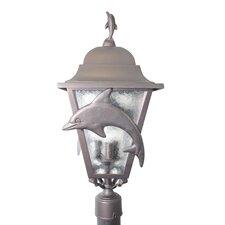 "Americana Dolphin Series 3 Light 31"" Post Lantern head"