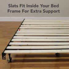 Attached Solid Wood Bed Support Slats - Bunkie Board
