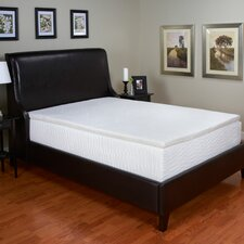 """2"""" 100 Percent Latex Foam Mattress Topper with Removable Velour Cover"""