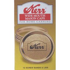 Wide Mouth Canning Jar Cap (Set of 12)
