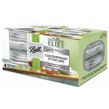 Platinum Collection Elite 0.5-Pint Wide Mouth Canning Jar (Set of 4)