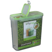 15.3 Cup Slim Flip Top Rectangular Storage Container