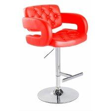 Modrest Adjustable Height Swivel Bar Stool with Cushion