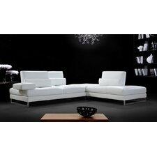 Divani Casa Tango Leather Sectional Sofa