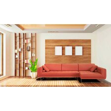 Divani Casa Katie Leather Right Hand Facing Sectional
