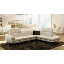 Divani Casa Olympus Leather Right Hand Facing Sectional