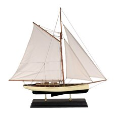 Large 1930s Classic Model Yacht