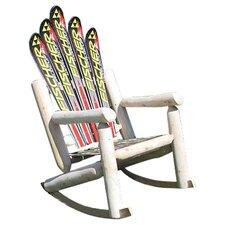 Ski Adirondack Log Rocker