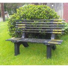 Hockey Stick Recycled Plastic Garden Bench