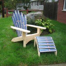 Snow Adirondack Chair and Ottoman