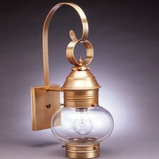 Onion 1 Light Wall Lantern