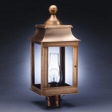 Concord 1 Light Chimney Pagoda Post Lantern