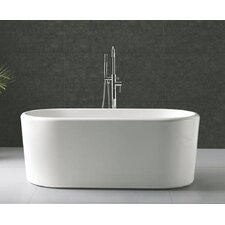 "Turq 67"" x 28 Oval Acrylic Freestanding Bathtub"
