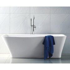 "Regent 69"" x 32"" Rectangle Acrylic Freestanding Bathtub"