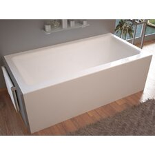 "Castle 60"" x 32"" Front Skirted Air Massage Bathtub with Drain"