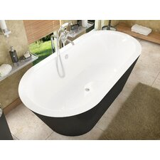 "Little Key 70"" x 32"" Freestanding One Piece Soaking Bathtub with Center Drain"