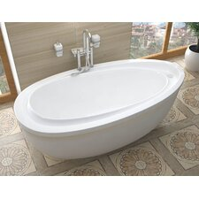 "Capricia 71"" x 38"" Oval Freestanding Soaking Bathtub with Reversible Drain"